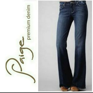 Paige Robertson flared embroidered jeans sz 28